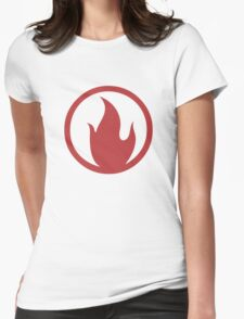 TF2 Pyro Shirt Team Spirit Red Womens Fitted T-Shirt