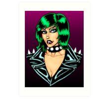 Punk Rock Chick Art Print