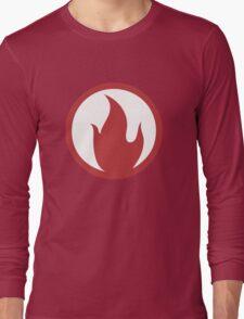 TF2 Pyro Shirt Team Spirit Red Filled Long Sleeve T-Shirt