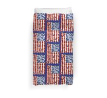 American flag with bullet holes Duvet Cover