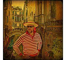 Venice... Trattoria Sempione. Photographic Print