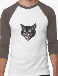 Black Cat Men's Baseball ¾ T-Shirt
