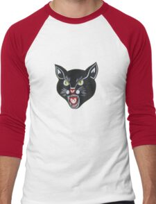 Black Cat Men's Baseball ¾ T-Shirt