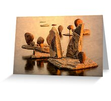 Stone sculpture-7 Greeting Card