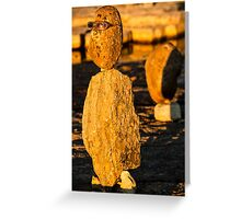 Stone sculpture-9 Greeting Card
