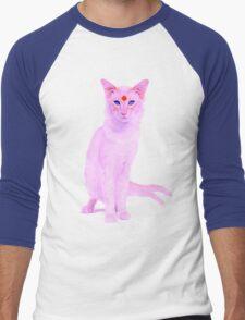 My cat is an espeon Men's Baseball ¾ T-Shirt