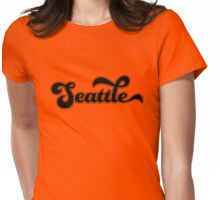 Ol' School Seattle Womens Fitted T-Shirt