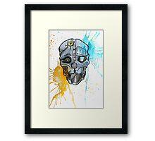Corvo's Mask - Dishonored - Ink Splatter Framed Print