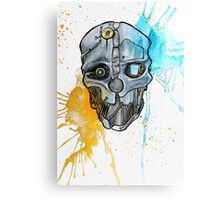 Corvo's Mask - Dishonored - Ink Splatter Canvas Print