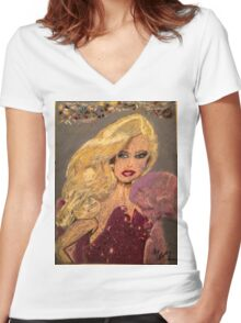 Dressed up and Nowhere to Go Women's Fitted V-Neck T-Shirt