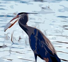 The Great Blue Heron Abstract by Diana Graves Photography