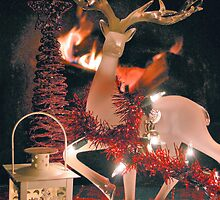 Christmas By The Fire by ©Dawne M. Dunton