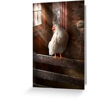 Animal - Chicken - Lost in thought Greeting Card