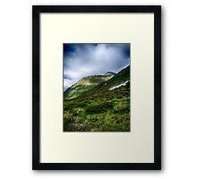 Alpine meadow landscape color fine art photography - La su sulle montagne Framed Print