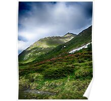 Alpine meadow landscape color fine art photography - La su sulle montagne Poster