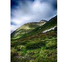 Alpine meadow landscape color fine art photography - La su sulle montagne Photographic Print
