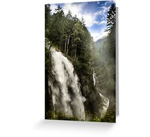 Landscape nature waterfall in the mountains - Il Grande Salto Greeting Card