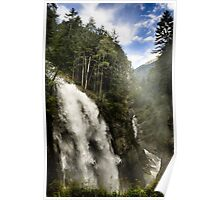 Landscape nature waterfall in the mountains - Il Grande Salto Poster