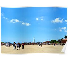 Park Guell background Poster
