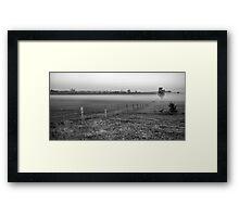 Fenceline Framed Print