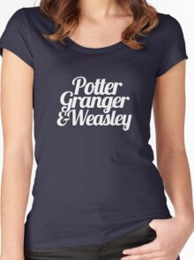 Potter Granger & Weasley Women's Fitted Scoop T-Shirt