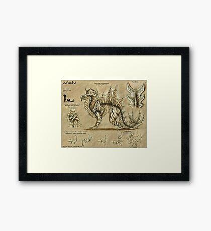 Bestiary: Baakudoa Framed Print