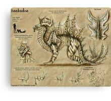 Bestiary: Baakudoa Canvas Print
