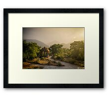 Mesmerizing Morning, Uparkot Fort, Junagadh, Gujarat Framed Print