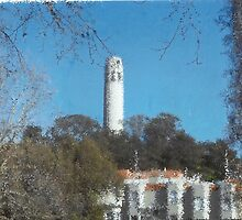 Coit Tower A La Pointillism,San Francisco by RobynLee