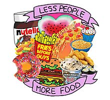 Less People More Food Collage Photographic Print