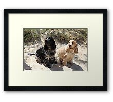 Bart and Gracie Framed Print