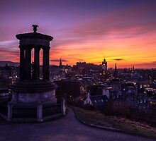 Dugald Stewart Monument at Sunset by PhilipCormack