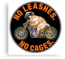 NO LEASHES, NO CAGES Canvas Print