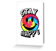 Stay Happy Smiley Face Greeting Card