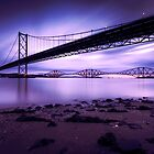 Forth Road & Rail Bridge at Sunrise by PhilipCormack