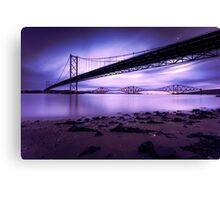 Forth Road & Rail Bridge at Sunrise Canvas Print