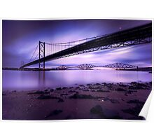 Forth Road & Rail Bridge at Sunrise Poster