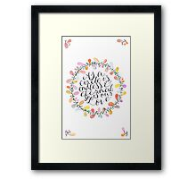 Circle of Love Framed Print