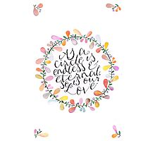 Circle of Love Photographic Print