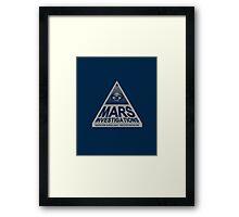 MARS INVESTIGATIONS - BLUE Framed Print