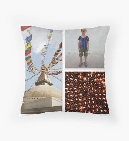 Boudhanath Throw Pillow