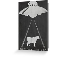 DON'T FORGET THE MILK. Greeting Card