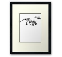 clever girl raptor Framed Print