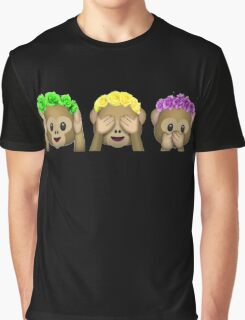 Flower Crown Monkeys Graphic T-Shirt