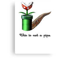 Super Mario for Magritte (English Version) Canvas Print