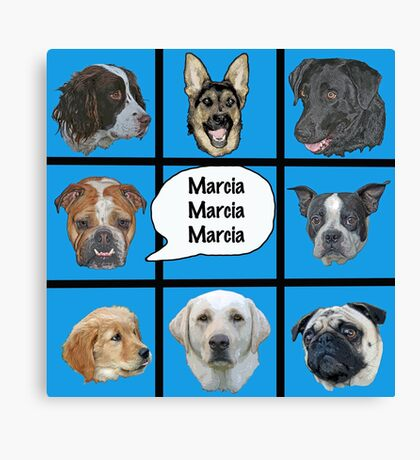 Silly dogs spoof  Canvas Print