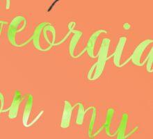 Georgia On My Mind Sticker
