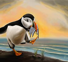 Puffin Bird by Richard Eijkenbroek