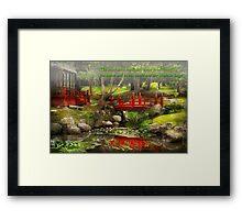 Inspiration - Japanese Garden - Meditation Framed Print