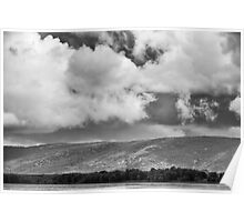 Clouds over the Gatineau hills Poster